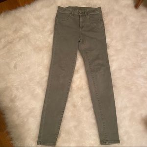 American Eagle high rise green jegging jeans